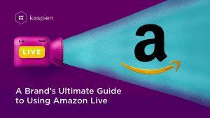 Projector projecting Amazon logo