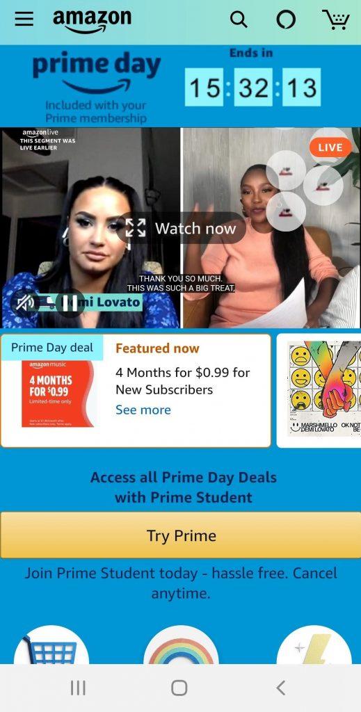 Amazon Live Demi Lovato
