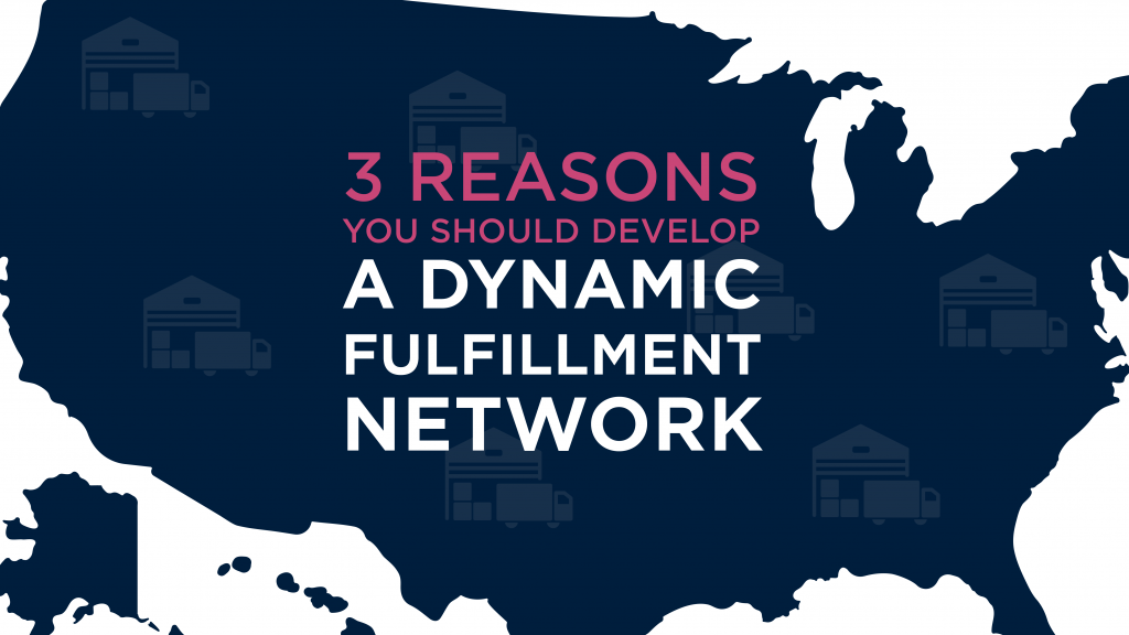 Map of US and Importance of Dynamic Fulfillment Network