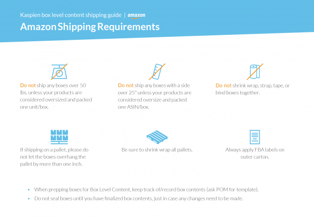 Amazon FBA shipping requirements