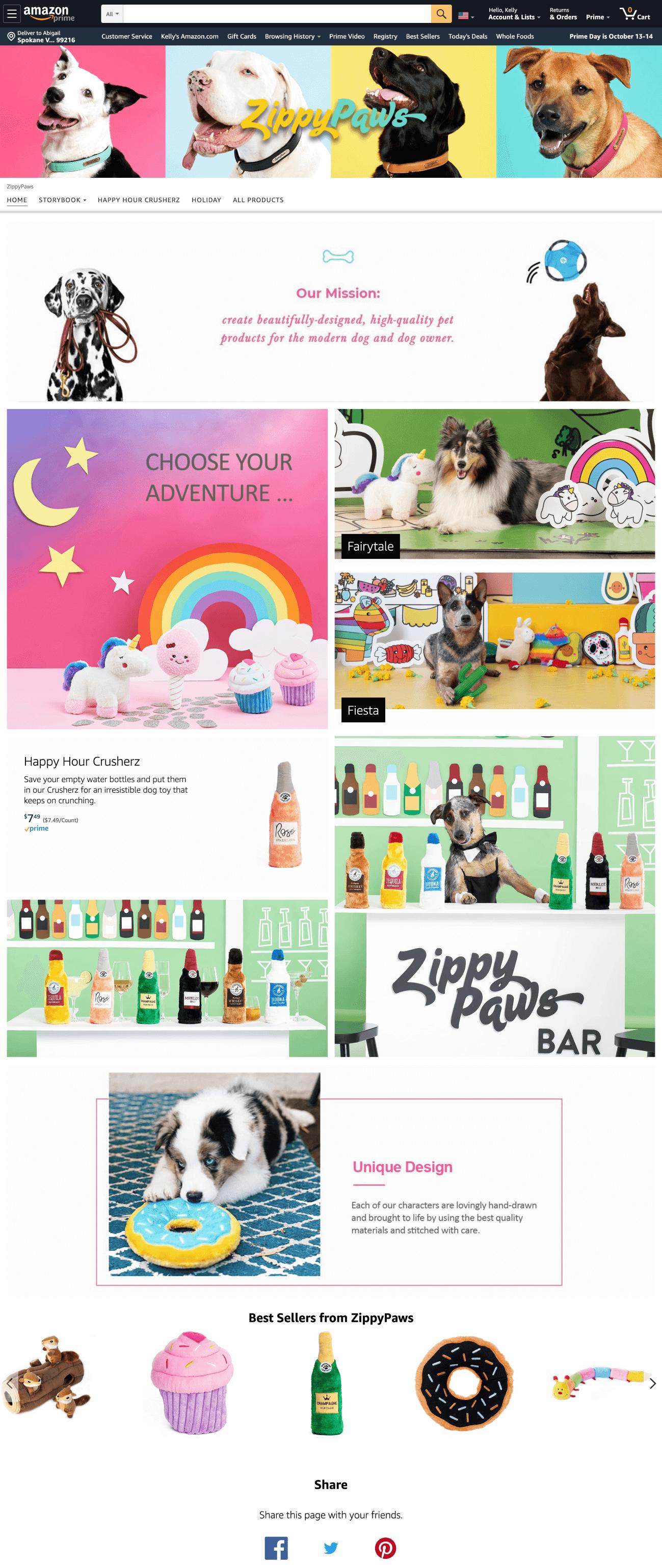 Amazon Brand Store Example