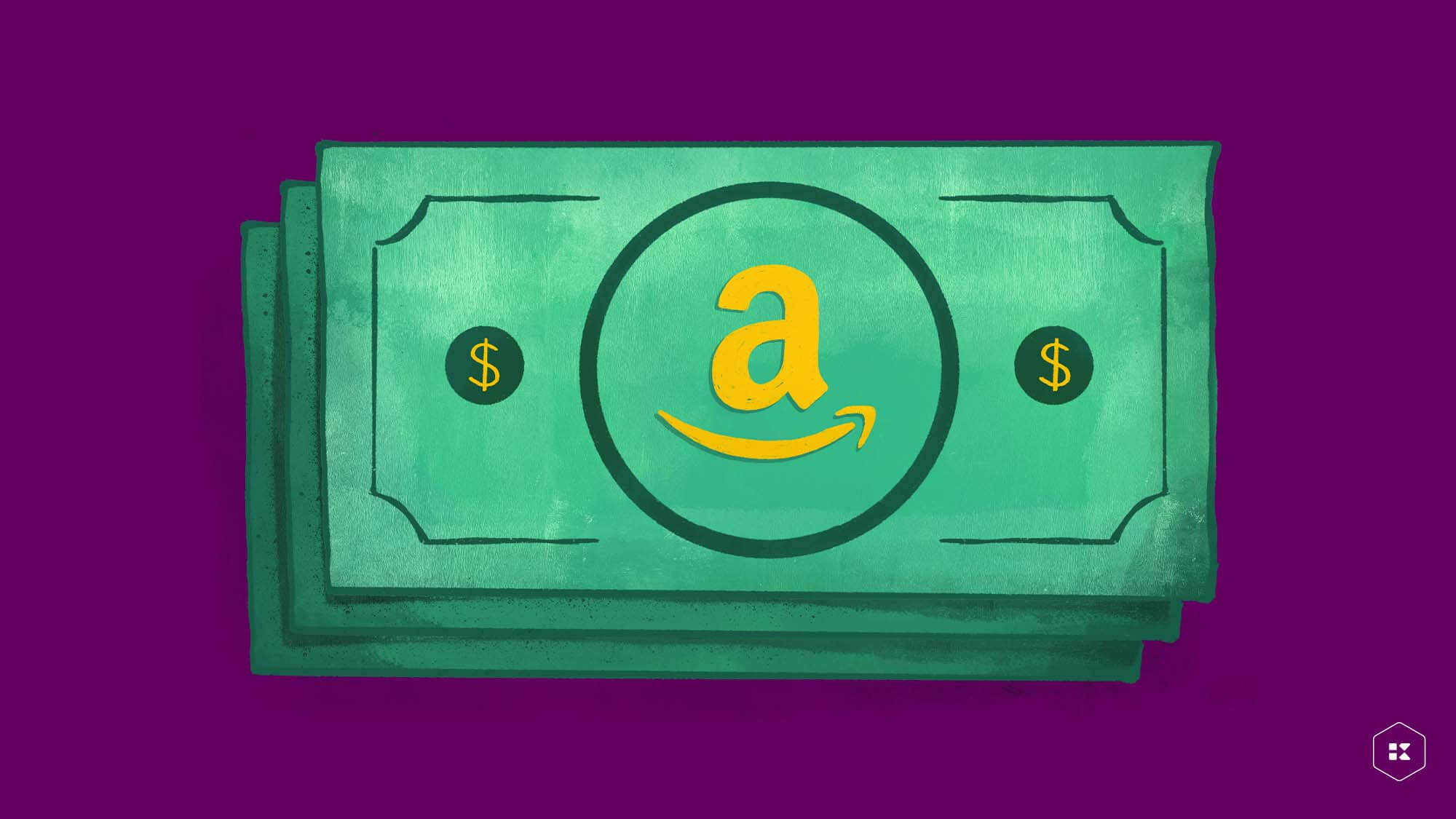 Dollar with Amazon logo for Amazon's pricing policy