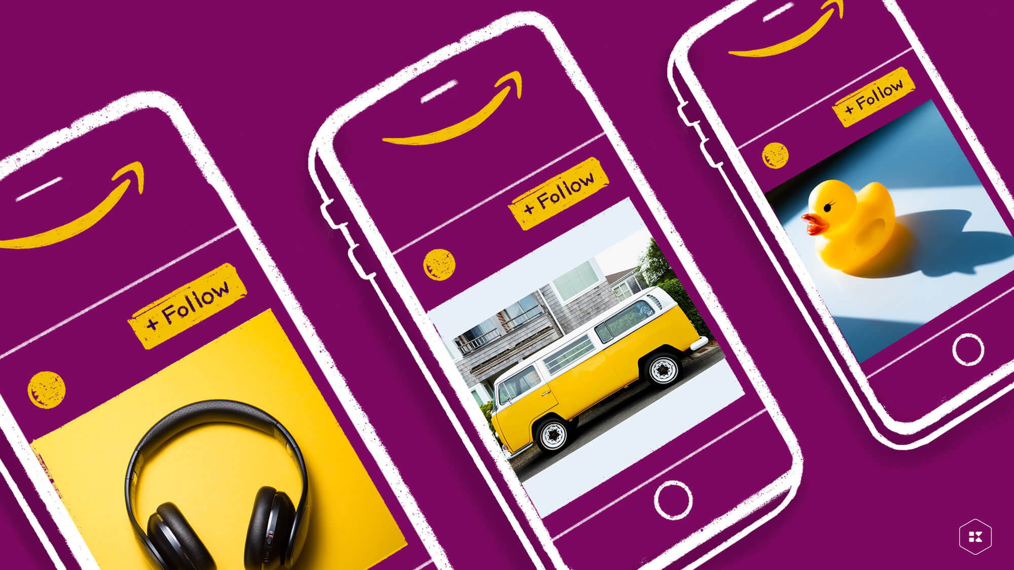 Example images of Amazon Posts in a mobile phone