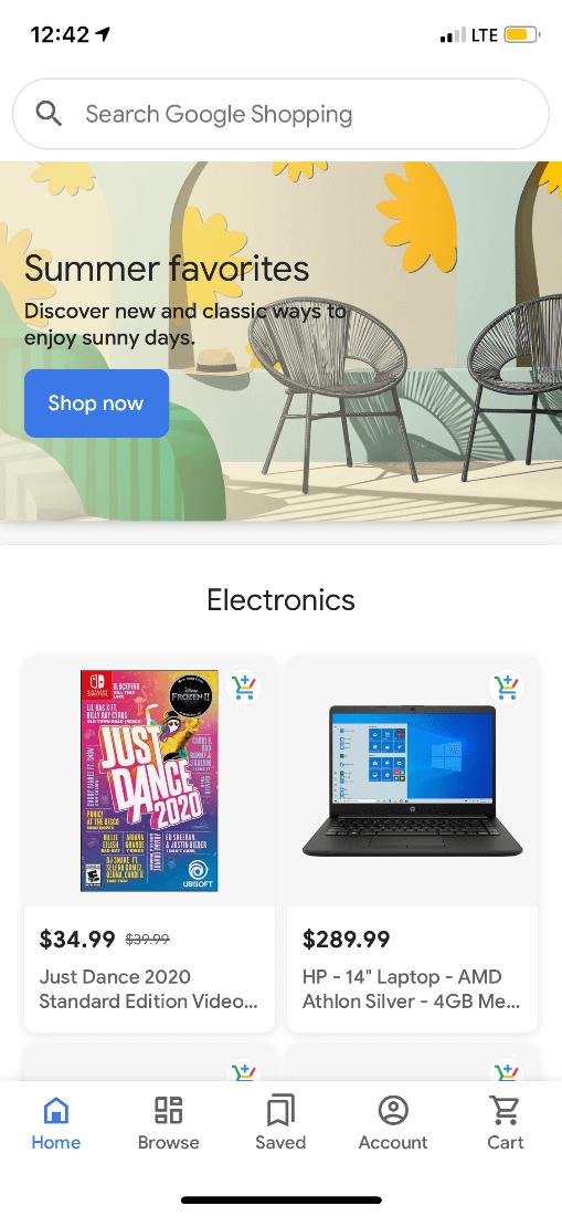 Google Shopping Mobile App